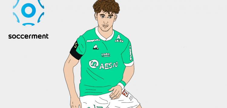 Adil Aouchiche Saint-Etienne Soccerment png