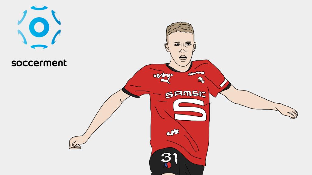 Adrien Truffert Rennes Soccerment png