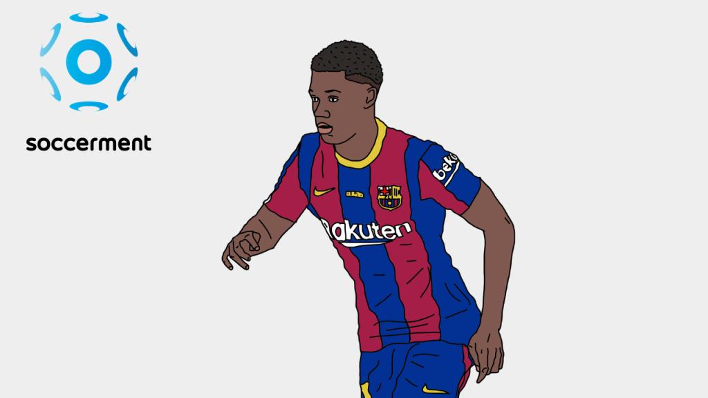Ansu Fati Barcelona Soccerment png