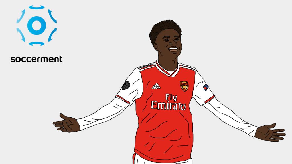 Bukayo Saka Arsenal Soccerment png