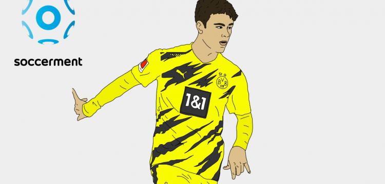 Giovanni Reyna Borussia Dortmund Soccerment png