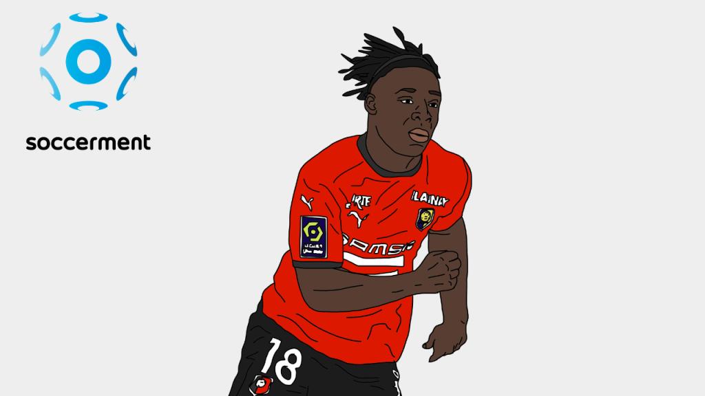 Jeremy Doku Rennes Soccerment png