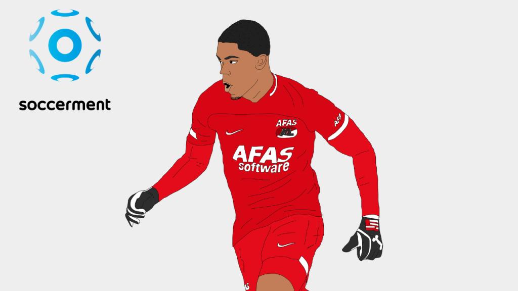 Myron Boadu AZ Alkmaar Soccerment png