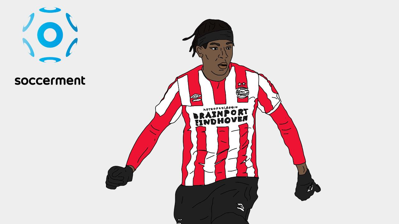 Noni Madueke PSV Soccerment png