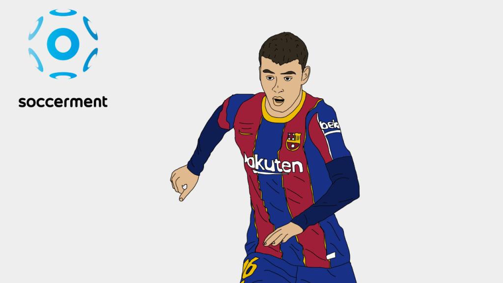 Pedri Barcelona Soccerment png
